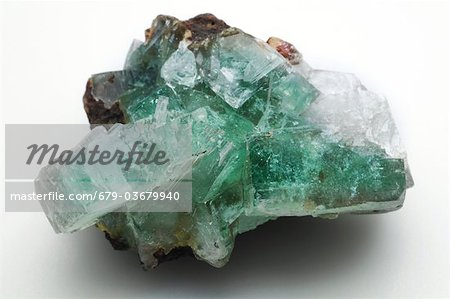 Green apophyllite from Jalgaon, India. Stock Photo - Premium Royalty-Free, Image code: 679-03679940