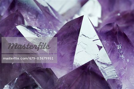 Amethyst crystals from Gerais, Brazil. Stock Photo - Premium Royalty-Free, Image code: 679-03679951