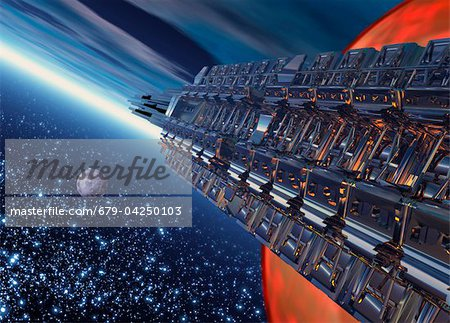 Space travel, artwork Stock Photo - Premium Royalty-Free, Image code: 679-04250103