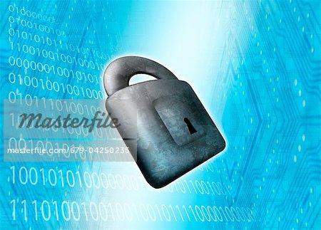 Internet security, conceptual artwork Stock Photo - Premium Royalty-Free, Image code: 679-04250235