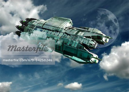 Alien invasion, artwork Stock Photo - Premium Royalty-Free, Image code: 679-04250246