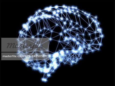 Neural network Stock Photo - Premium Royalty-Free, Image code: 679-04250509