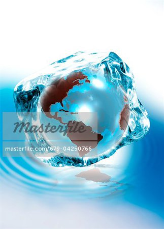 Ice age, conceptual artwork Stock Photo - Premium Royalty-Free, Image code: 679-04250766
