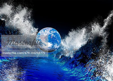 End of the World, conceptual artwork Stock Photo - Premium Royalty-Free, Image code: 679-04250775