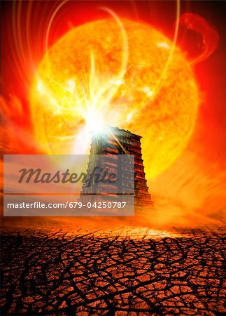 End of the World in 2012 conceptual image Stock Photo - Premium Royalty-Free, Image code: 679-04250787