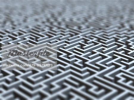 Maze, artwork Stock Photo - Premium Royalty-Free, Image code: 679-05797173