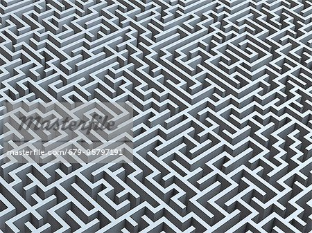 Maze, artwork Stock Photo - Premium Royalty-Free, Image code: 679-05797191
