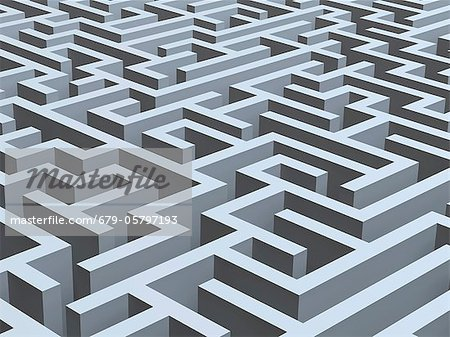Maze, artwork Stock Photo - Premium Royalty-Free, Image code: 679-05797193