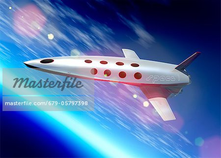 Space tourism, artwork Stock Photo - Premium Royalty-Free, Image code: 679-05797398