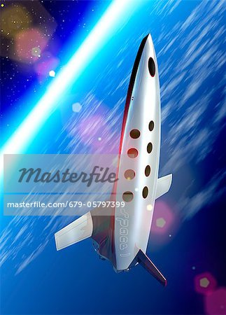 Space tourism, artwork Stock Photo - Premium Royalty-Free, Image code: 679-05797399