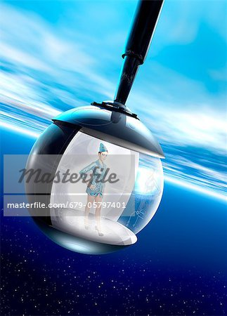 Space tourism, composite image Stock Photo - Premium Royalty-Free, Image code: 679-05797401