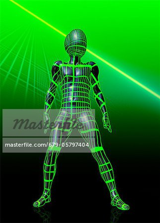 Humanoid robot, artwork Stock Photo - Premium Royalty-Free, Image code: 679-05797404