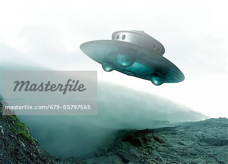 UFO, artwork Stock Photo - Premium Royalty-Free, Image code: 679-05797565