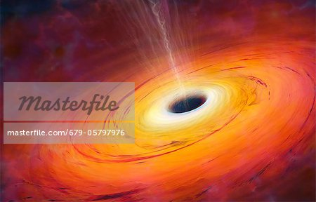 Computer artwork of black hole Stock Photo - Premium Royalty-Free, Image code: 679-05797976