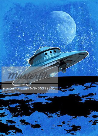UFO, conceptual computer artwork. Stock Photo - Premium Royalty-Free, Image code: 679-05992801