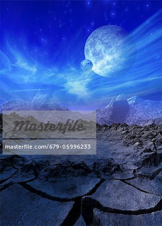 Alien planet, computer artwork. Stock Photo - Premium Royalty-Free, Image code: 679-05996233