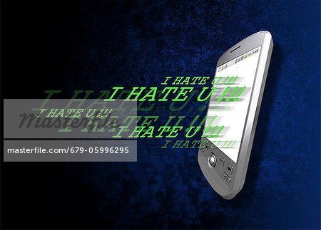 Cyber bullying, conceptual computer artwork. Stock Photo - Premium Royalty-Free, Image code: 679-05996295