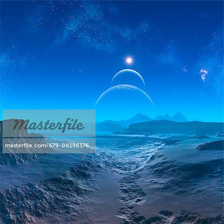 Alien planet, computer artwork. Stock Photo - Premium Royalty-Free, Image code: 679-06198376
