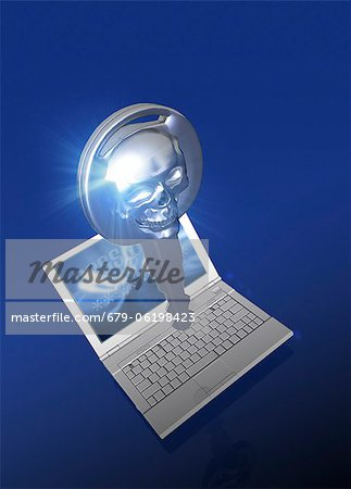 Computer hacking, conceptual computer artwork. Stock Photo - Premium Royalty-Free, Image code: 679-06198423