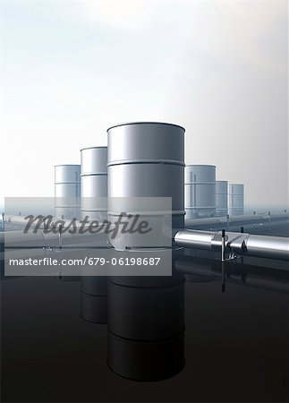Oil distribution, conceptual computer artwork. Stock Photo - Premium Royalty-Free, Image code: 679-06198687