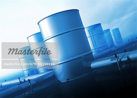 Oil distribution, conceptual computer artwork. Stock Photo - Premium Royalty-Free, Image code: 679-06198688