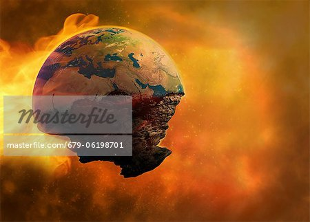 End of the world, computer artwork. Stock Photo - Premium Royalty-Free, Image code: 679-06198701