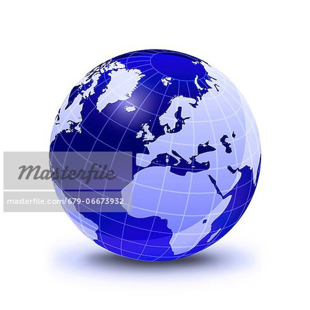 Europe, computer artwork. Stock Photo - Premium Royalty-Free, Image code: 679-06673932