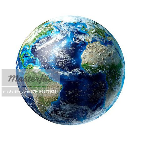 Atlantic Ocean, computer artwork. Stock Photo - Premium Royalty-Free, Image code: 679-06673938