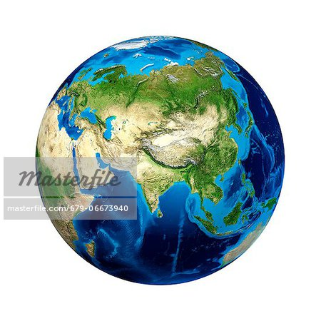 Asia, computer artwork. Stock Photo - Premium Royalty-Free, Image code: 679-06673940