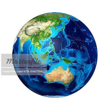 Australasia, computer artwork. Stock Photo - Premium Royalty-Free, Image code: 679-06673941