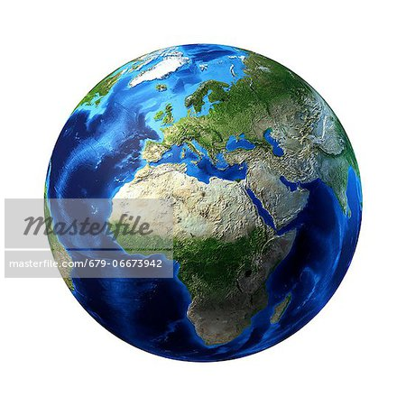 Africa, computer artwork. Stock Photo - Premium Royalty-Free, Image code: 679-06673942