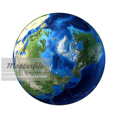 Arctic, computer artwork. Stock Photo - Premium Royalty-Free, Image code: 679-06673946