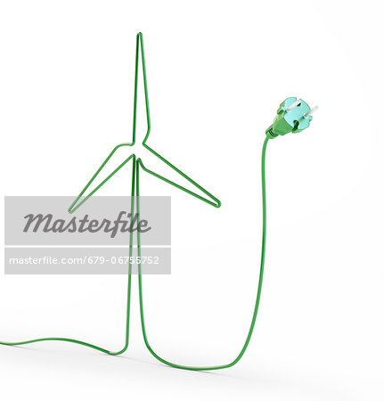 Green energy, conceptual computer artwork. Stock Photo - Premium Royalty-Free, Image code: 679-06755752