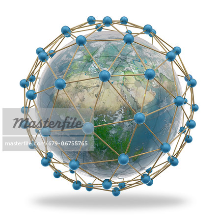 Global connectivity, computer artwork. Stock Photo - Premium Royalty-Free, Image code: 679-06755765