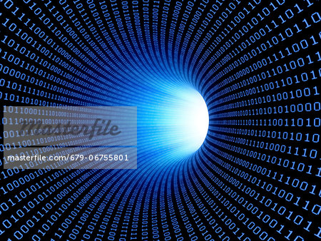 Data stream, conceptual computer artwork. Stock Photo - Premium Royalty-Free, Image code: 679-06755801