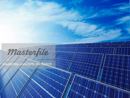 Solar energy, computer artwork. Stock Photo - Premium Royalty-Free, Image code: 679-06755819