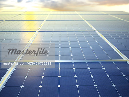 Solar energy, computer artwork. Stock Photo - Premium Royalty-Free, Image code: 679-06755891