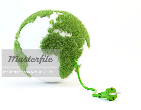 Green energy, conceptual computer artwork. Stock Photo - Premium Royalty-Free, Image code: 679-06755911