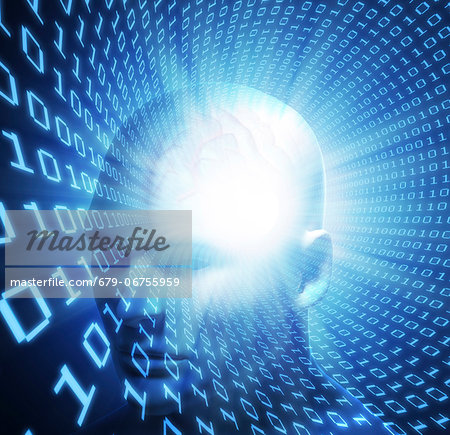 Artificial intelligence, conceptual computer artwork. Stock Photo - Premium Royalty-Free, Image code: 679-06755959