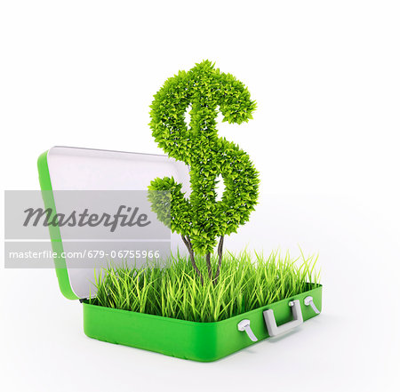 Green investment, conceptual computer artwork. Stock Photo - Premium Royalty-Free, Image code: 679-06755966