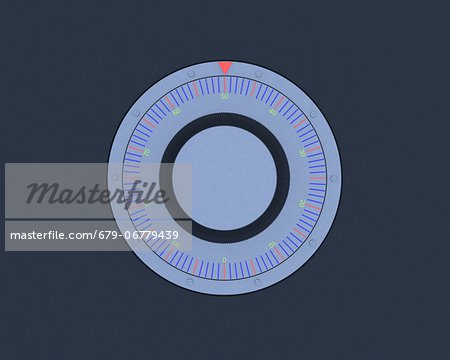 Safe dial, computer artwork. Stock Photo - Premium Royalty-Free, Image code: 679-06779439