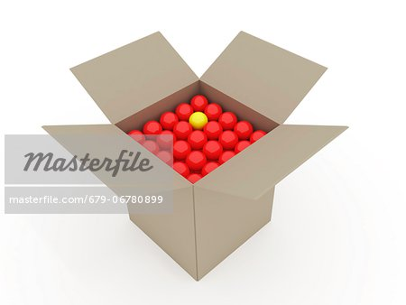 Odd one out, conceptual computer artwork. Stock Photo - Premium Royalty-Free, Image code: 679-06780899