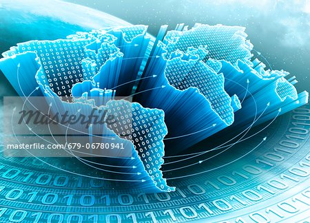 Digital world, conceptual computer artwork. Stock Photo - Premium Royalty-Free, Image code: 679-06780941