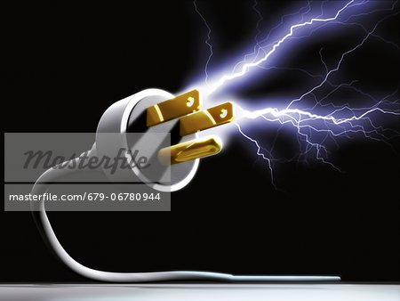 Wasted energy, conceptual computer artwork. Stock Photo - Premium Royalty-Free, Image code: 679-06780944