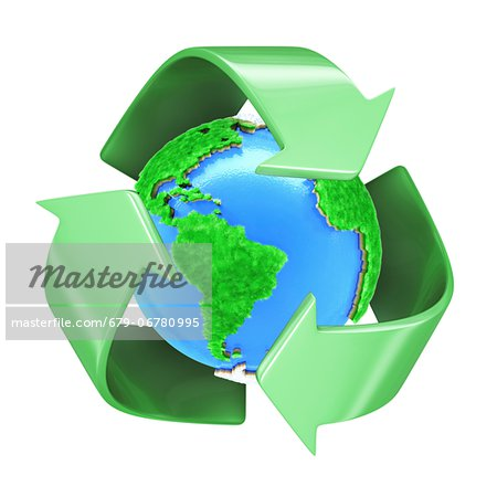 Recycling, conceptual computer artwork. Stock Photo - Premium Royalty-Free, Image code: 679-06780995
