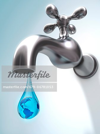 Global water shortage, conceptual computer artwork Stock Photo - Premium Royalty-Free, Image code: 679-06781053