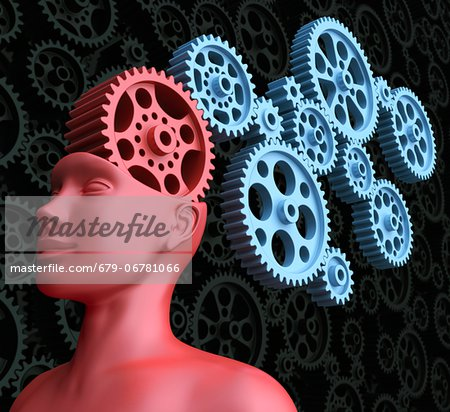 Intelligence, conceptual computer artwork. Stock Photo - Premium Royalty-Free, Image code: 679-06781066
