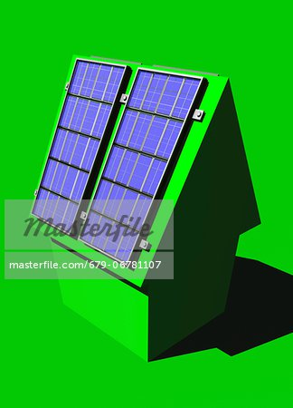 Green housing, conceptual computer artwork. Stock Photo - Premium Royalty-Free, Image code: 679-06781107
