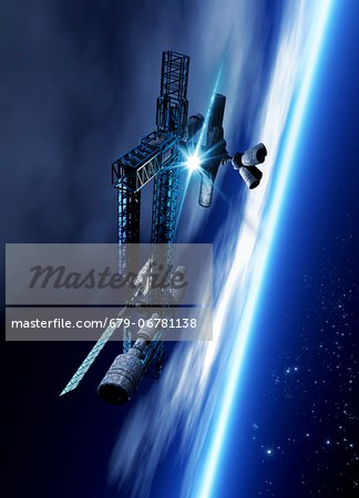 Space hotel, computer artwork. Stock Photo - Premium Royalty-Free, Image code: 679-06781138