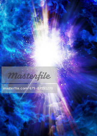 Big Bang, conceptual computer artwork. Stock Photo - Premium Royalty-Free, Image code: 679-07151270